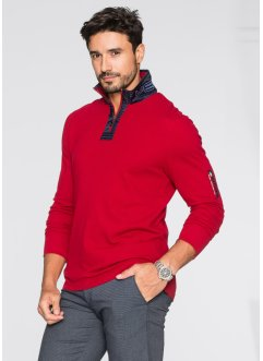 Langarmshirt mit Stehkragen Slim Fit, bpc selection
