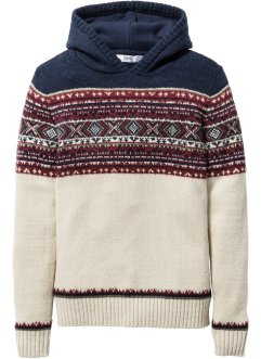 Strickpullover mit Kapuze, bpc bonprix collection