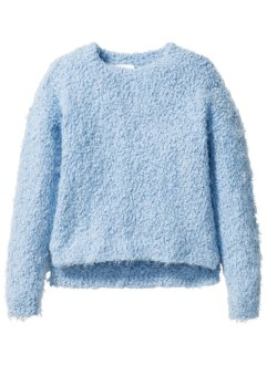 Flauschiger Pullover, bpc bonprix collection, hellblau