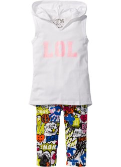 Top + Caprileggings (2-tlg. Set), bpc bonprix collection
