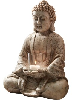 Deko-Buddha mit Windlicht, bpc living bonprix collection