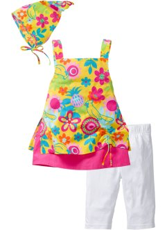 Kleid + Leggings + Kopftuch (3-tlg. Set), bpc bonprix collection