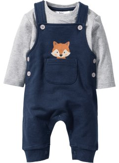 Baby Langarmshirt + Sweatlatzhose (2-tlg. Set) Bio-Baumwolle, bpc bonprix collection