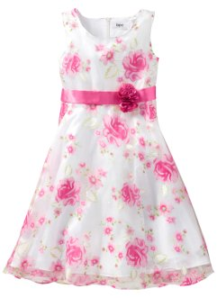 Kleid, bpc bonprix collection, weiß/pink