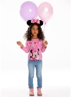 """MINNIE"" Langarmshirt, Minnie Mouse, rosa ""MINNIE"""
