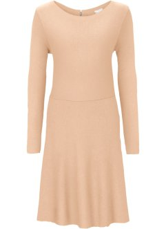 Strickkleid in Ripp-Optik, BODYFLIRT, beige