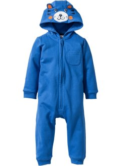 Baby Sweat Overall mit Kapuze Bio-Baumwolle, bpc bonprix collection, gletscherblau