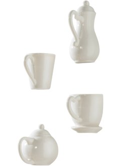 "Wanddeko ""Coffee"" (4-tlg. Set), bpc living, weiss"