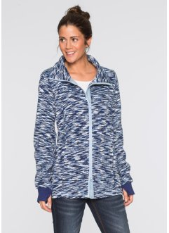 Strickfleece-Jacke, bpc bonprix collection, mitternachtsblau