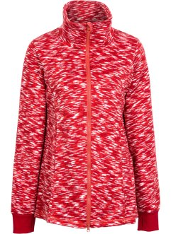 Strickfleece-Jacke, bpc bonprix collection, dunkelrot