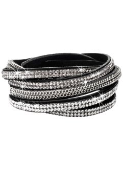 Wickelarmband Kette + Strass, bpc bonprix collection