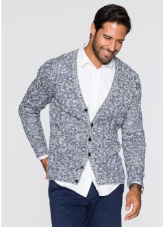 Strickjacke Regular Fit, bpc bonprix collection, ahornrot gemustert