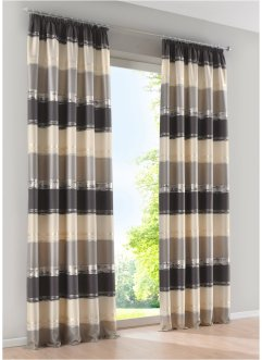 Jacquard Vorhang mit Querstreifen (1er Pack), bpc living bonprix collection
