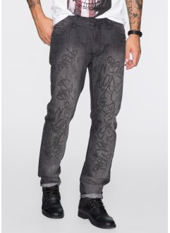 Jeans Regular Fit Straight, RAINBOW, anthracite denim