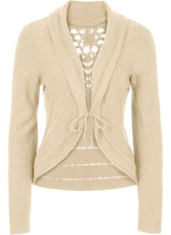 Strickjacke, BODYFLIRT boutique, beige