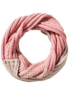 Loop im Mustermix, bpc bonprix collection, rosa/beige
