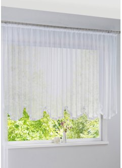 Transparenter Bogenstore mit Satinband Einfassung, bpc living bonprix collection