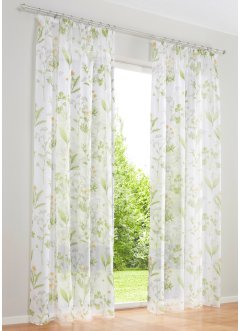 Gardine mit floralem Druck (1er Pack), bpc living bonprix collection