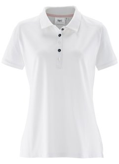 Piqué-Poloshirt, bpc bonprix collection, weiß