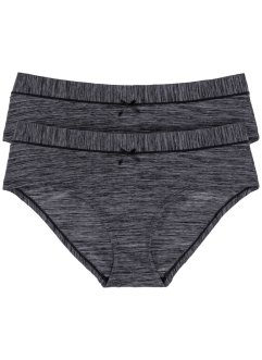 Panty (2er-Pack), bpc bonprix collection, 2x graumelange