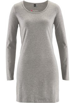 Basic Baumwollkleid Stretch-Jersey, bpc bonprix collection, grau meliert