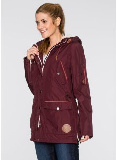 Funktions-Outdoorjacke mit recyceltem Material, bpc bonprix collection, ahornrot