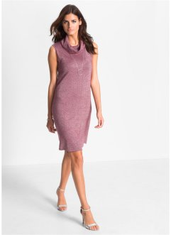 Strickkleid, BODYFLIRT, bordeaux/silber