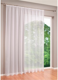 Transparente Gardine mit Spitzenkante, bpc living bonprix collection