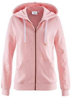 Sweatjacke, bpc bonprix collection, zartrosa