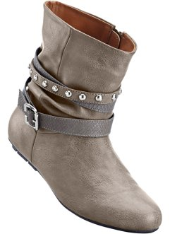 Stiefelette in 2 Weiten, bpc bonprix collection, anthrazit