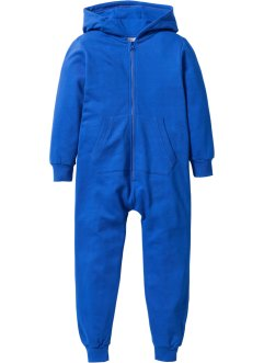 Kapuzen-Sweatoverall, bpc bonprix collection, azurblau