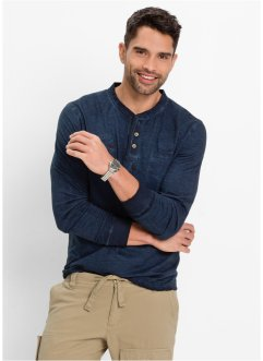 Langarmshirt im Regular Fit, bpc bonprix collection, dunkelblau