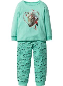 Pyjama (2 tlg. Set), bpc bonprix collection, mentholblau