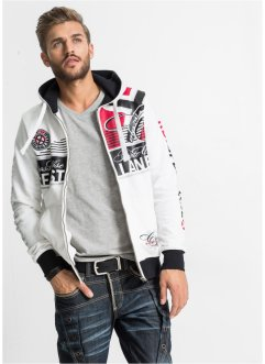Sweatjacke Slim Fit, RAINBOW, weiß