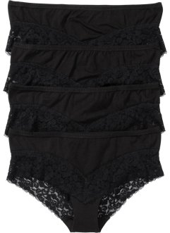 Panty (4er-Pack), bpc bonprix collection, schwarz