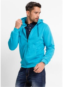 Sweatjacke mit Kapuze, Regular Fit, bpc bonprix collection, hellgrau meliert