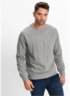Sweatshirt Regular Fit, bpc bonprix collection, hellgrau meliert