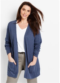 Strickjacke, Langarm, bpc bonprix collection, indigo