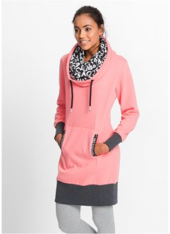 Sweatkleid, langarm, bpc bonprix collection, schiefergrau