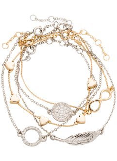 5-tlg. Armbandset, bpc bonprix collection, silberfarben/goldfarben