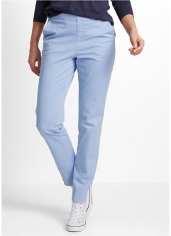 Twill-Chino mit Gummibündchen, bpc bonprix collection, perlblau