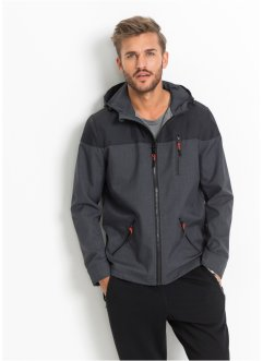 Softshelljacke im Regular Fit, RAINBOW, grau meliert/schwarz
