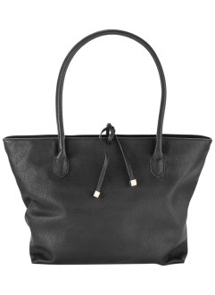 Handtasche aus gemasertem Lederimitat, bpc bonprix collection