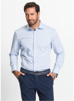 Stretchhemd Minimalmuster Slim Fit, bpc selection