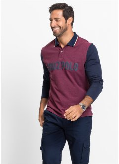Langarmpoloshirt Regular Fit, bpc selection, dunkelrot