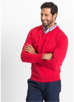 V-Pullover Regular Fit, bpc selection, rot