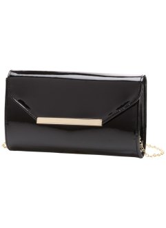 Clutch in Lackoptik, bpc bonprix collection, schwarz