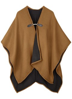 Poncho mit Schnalle, bpc bonprix collection, cognac