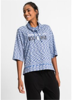 Wellness-Shirt, 3/4-Arm, bpc bonprix collection, enzianblau meliert