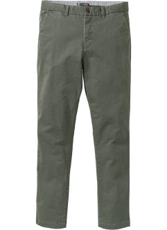 Chino-Hose mit Minimalmuster Slim Fit, bpc selection
